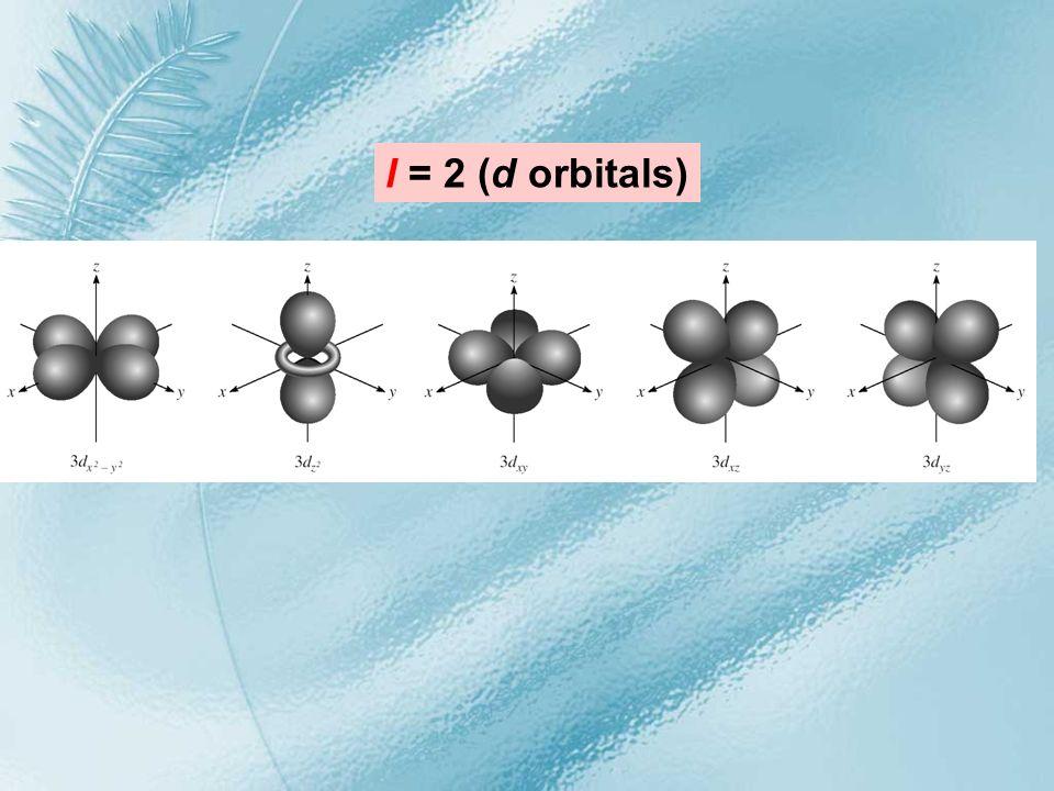 l = 2 (d orbitals)