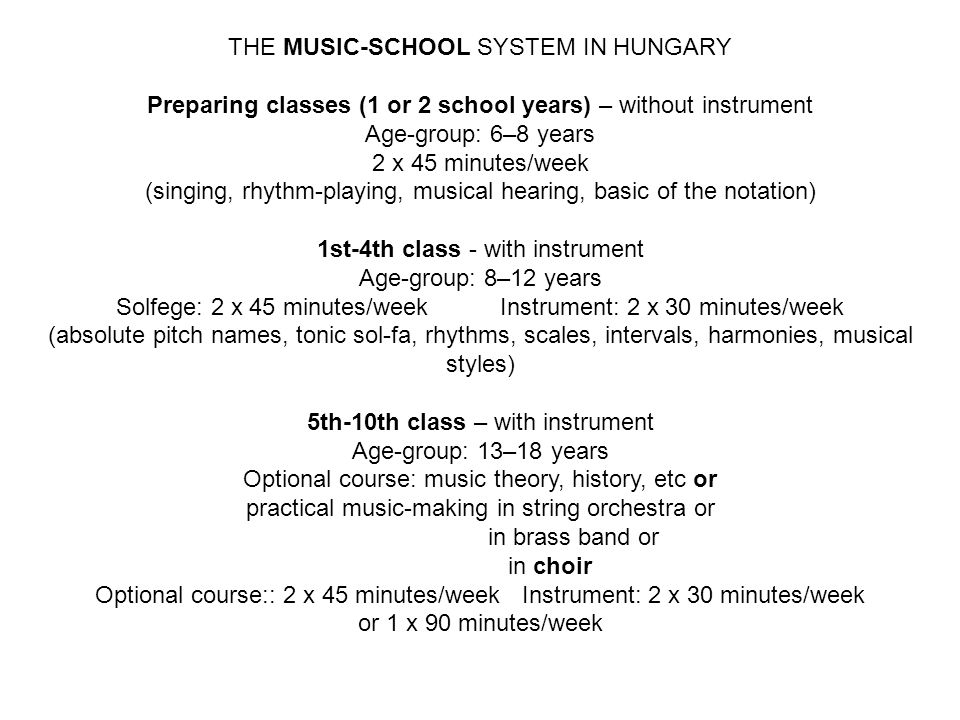 THE MUSIC-SCHOOL SYSTEM IN HUNGARY