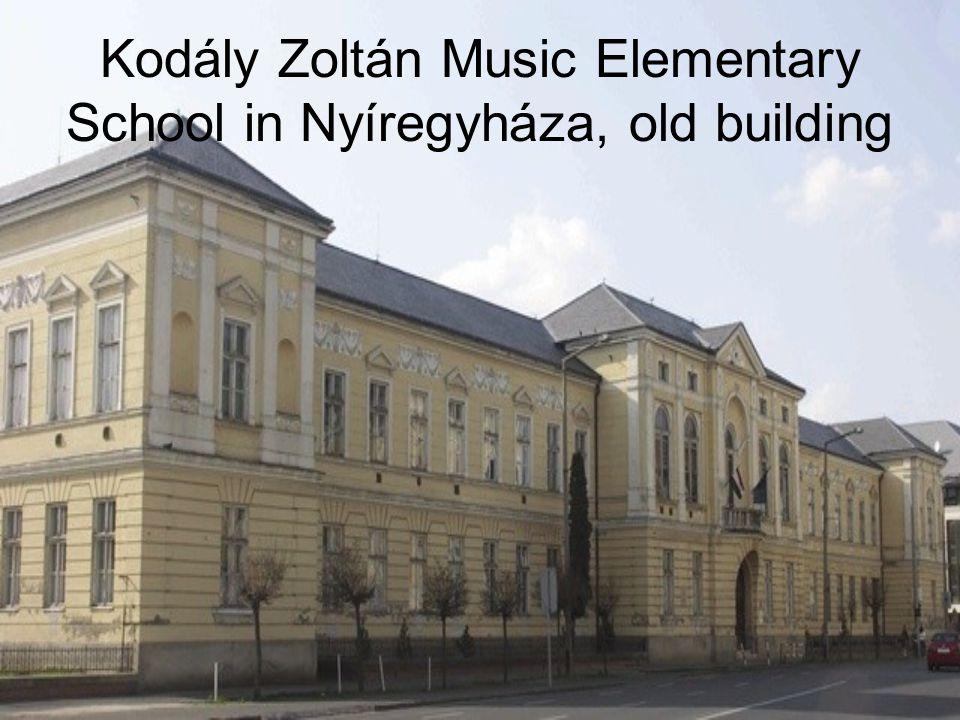 Kodály Zoltán Music Elementary School in Nyíregyháza, old building