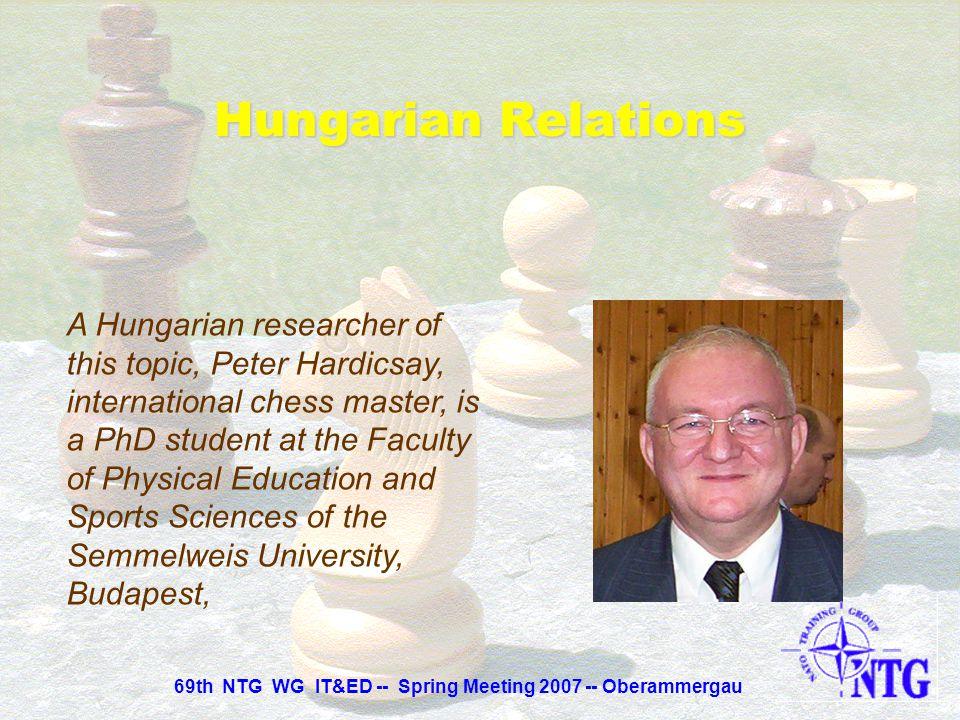 69th NTG WG IT&ED -- Spring Meeting 2007 -- Oberammergau