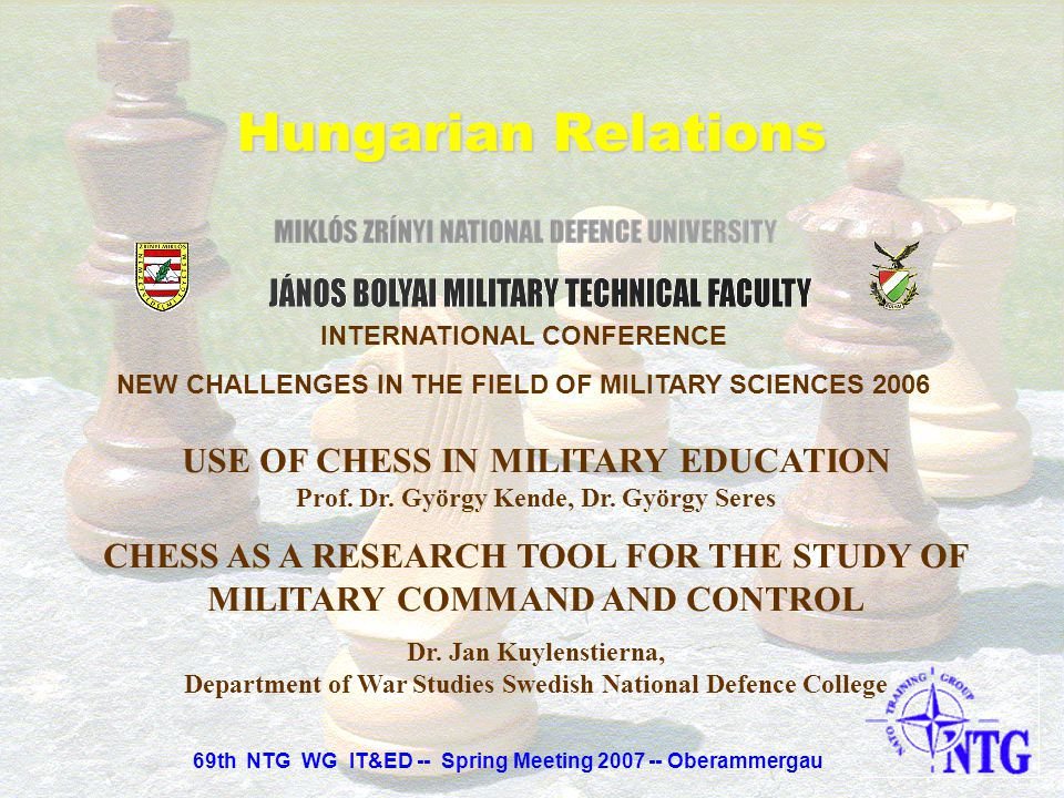 Hungarian Relations INTERNATIONAL CONFERENCE. NEW CHALLENGES IN THE FIELD OF MILITARY SCIENCES 2006.