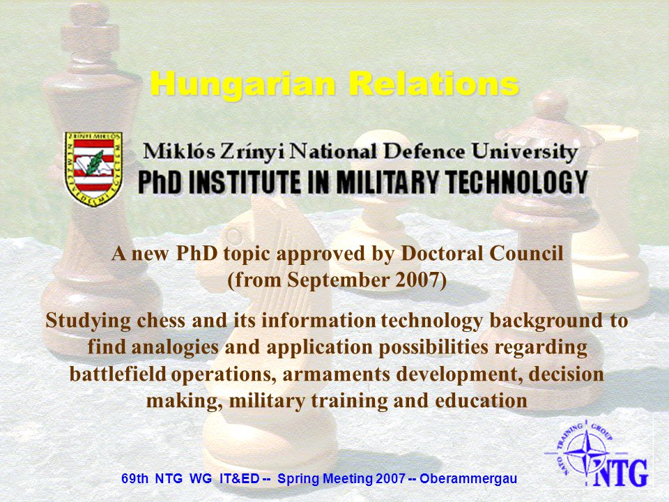 A new PhD topic approved by Doctoral Council (from September 2007)