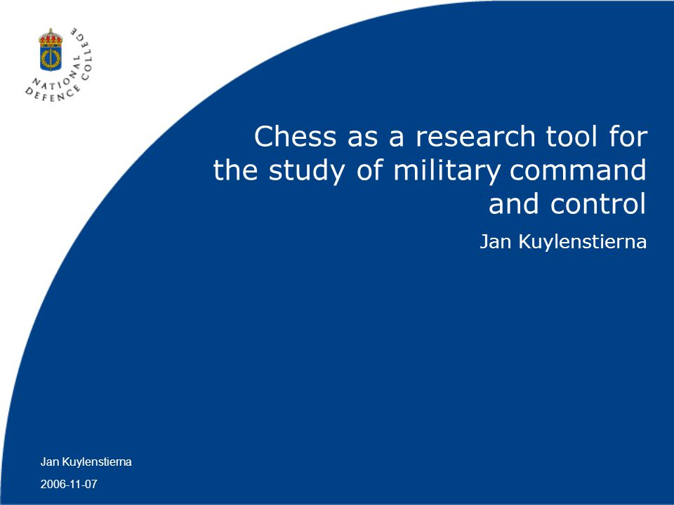 Chess as a research tool for the study of military command and control