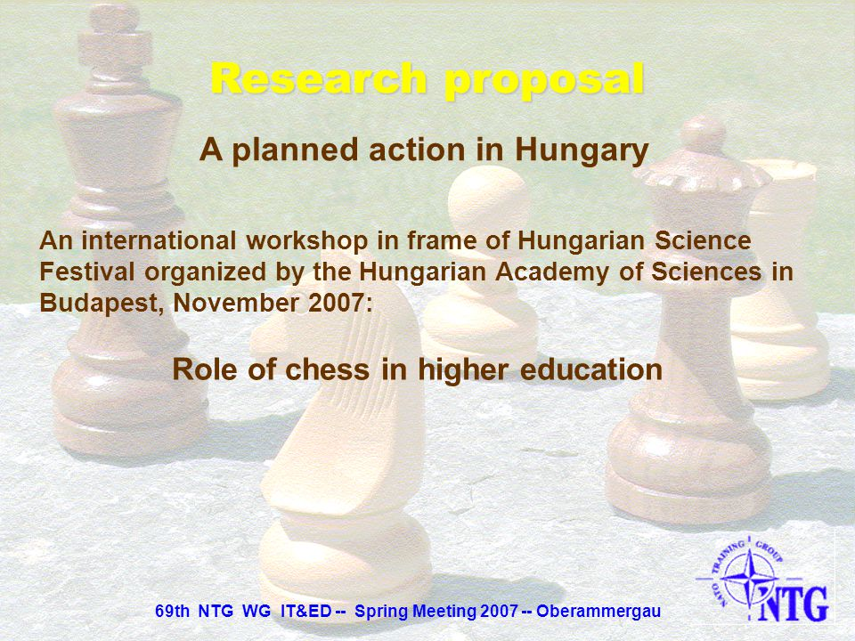 A planned action in Hungary Role of chess in higher education