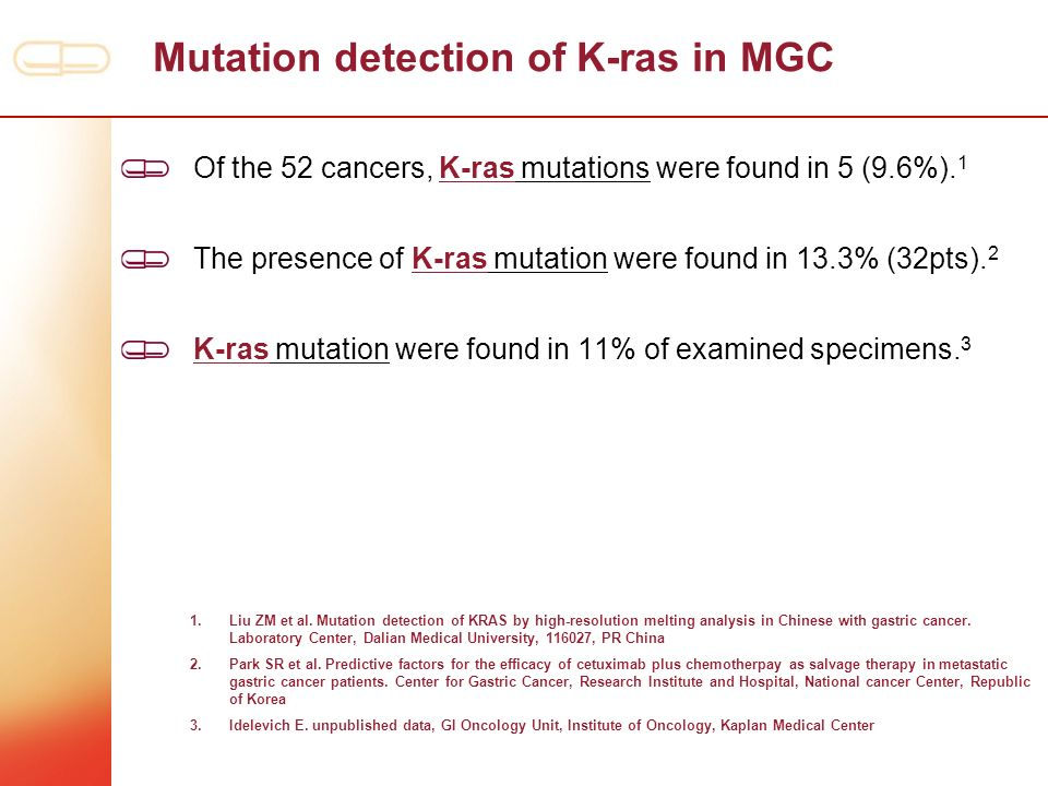 Mutation detection of K-ras in MGC