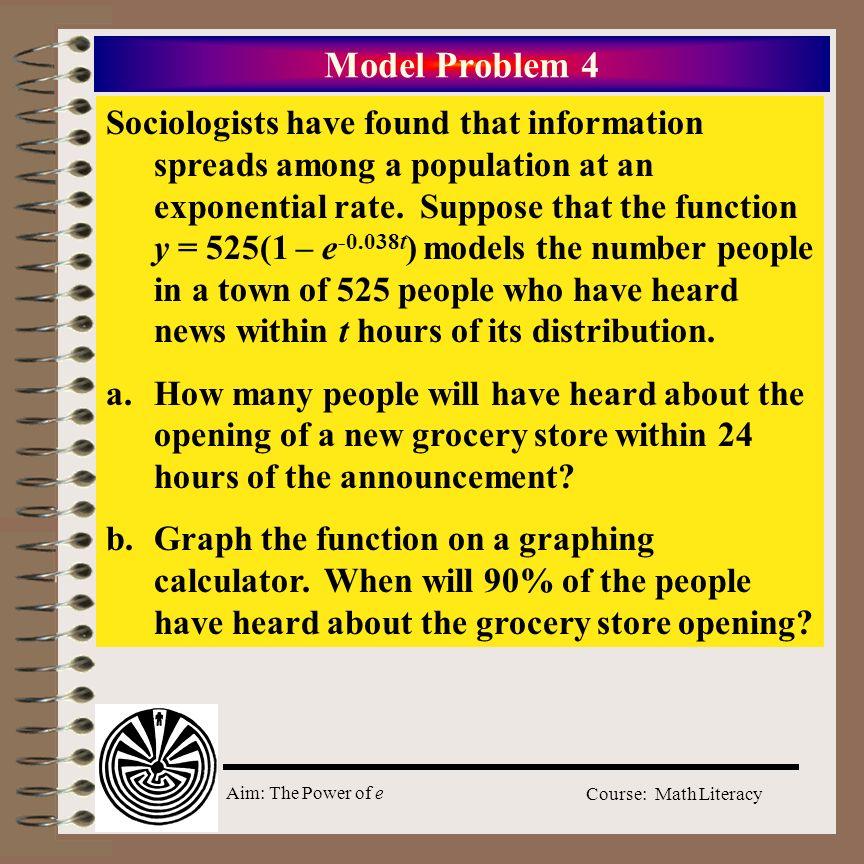 Model Problem 4