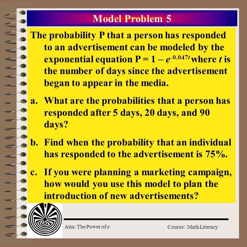Model Problem 5