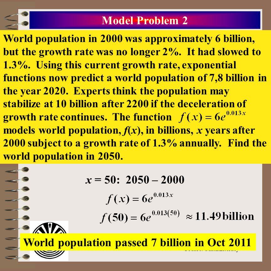 World population passed 7 billion in Oct 2011