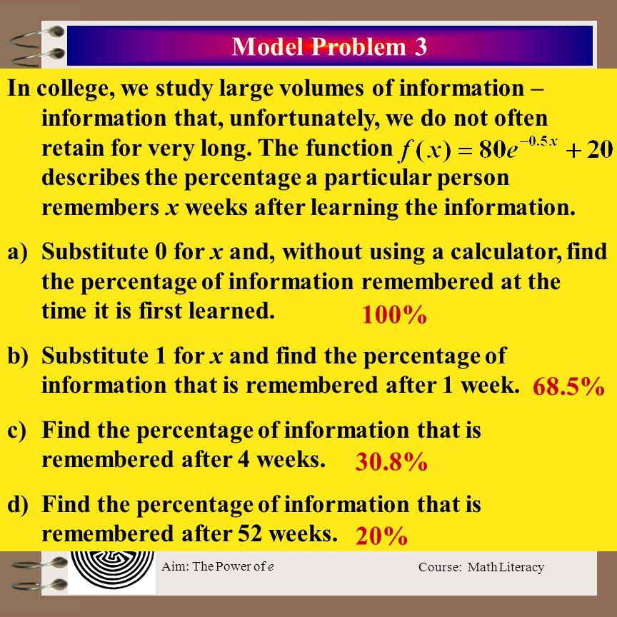 Model Problem 3