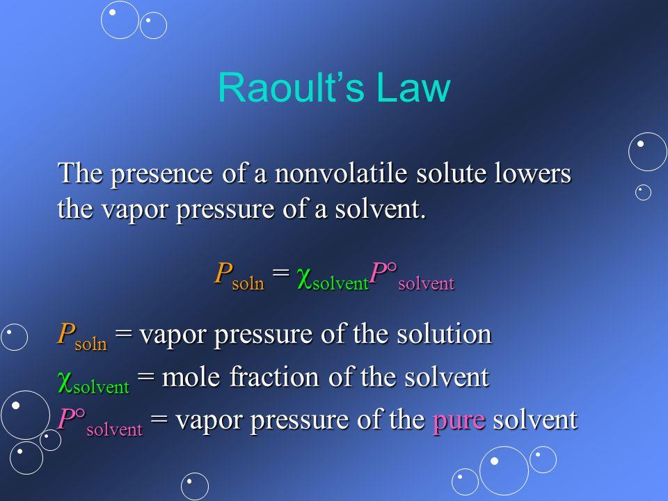 Psoln = solventPsolvent
