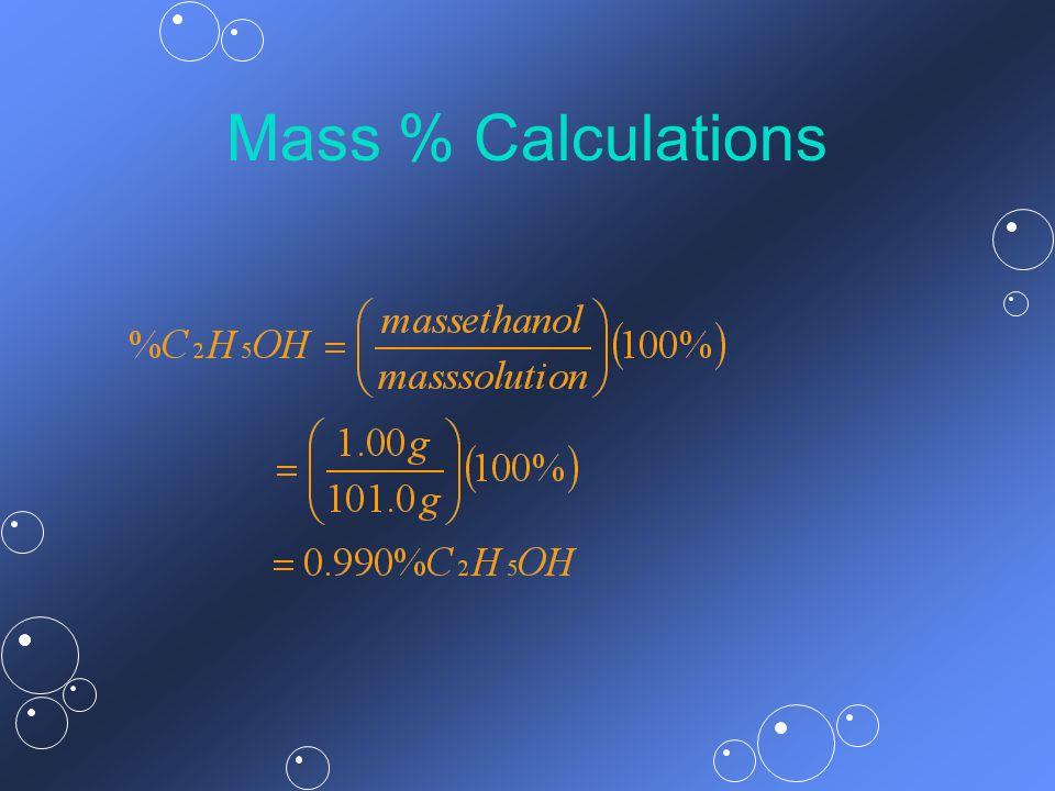 Mass % Calculations