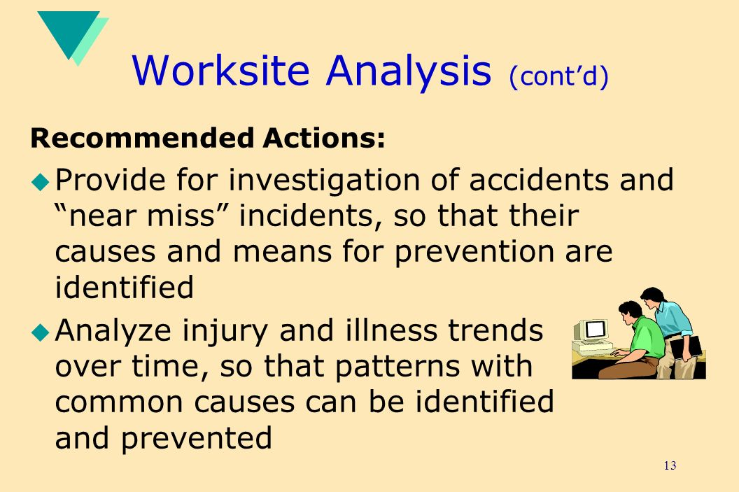 Worksite Analysis (cont'd)