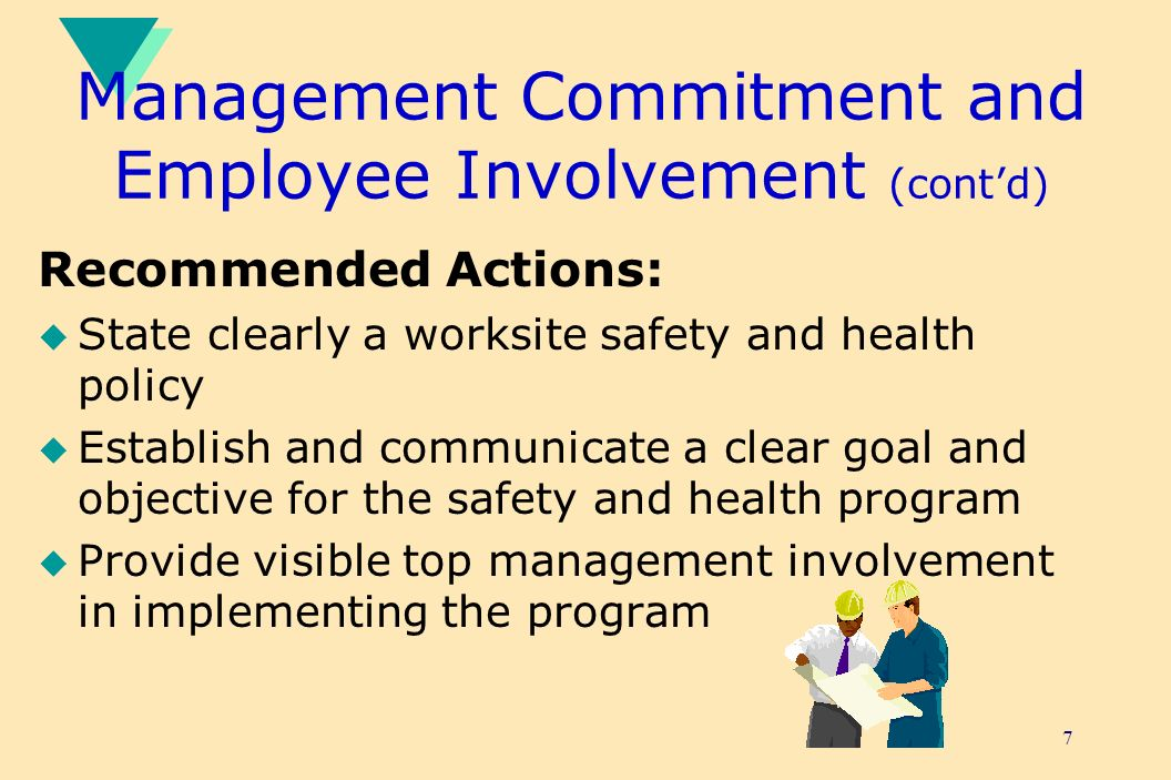 Management Commitment and Employee Involvement (cont'd)
