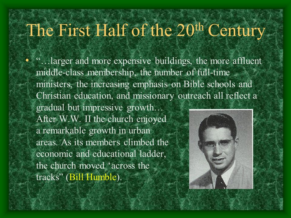 The First Half of the 20th Century