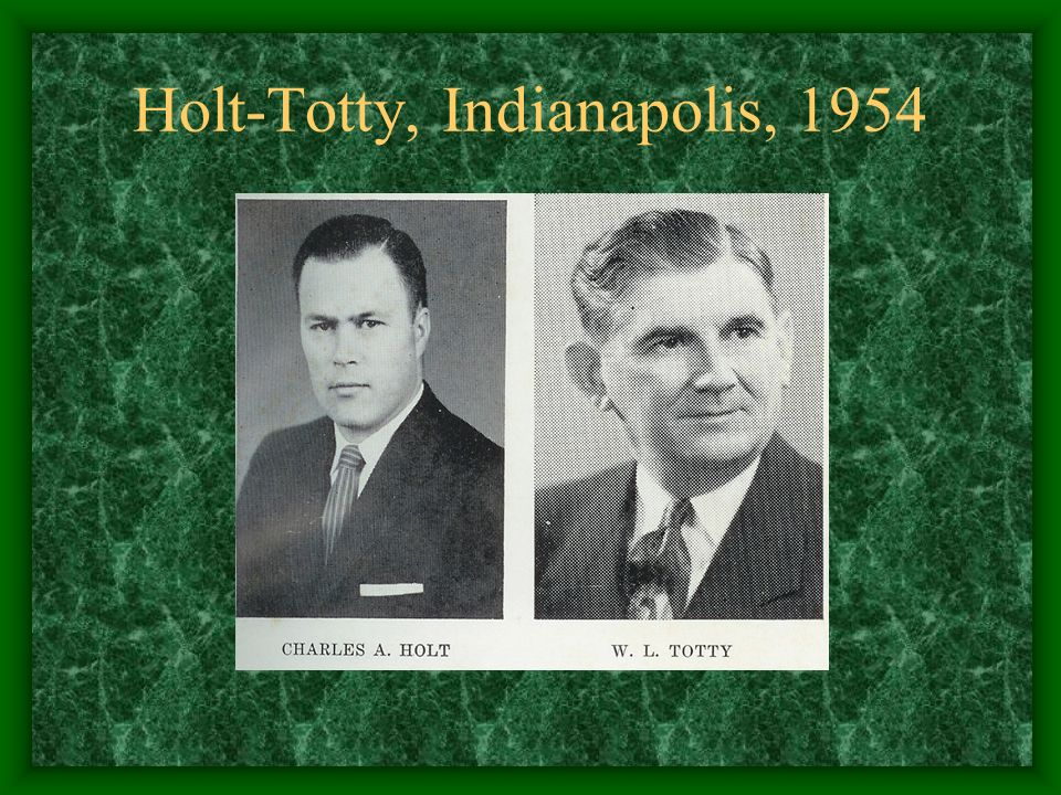 Holt-Totty, Indianapolis, 1954