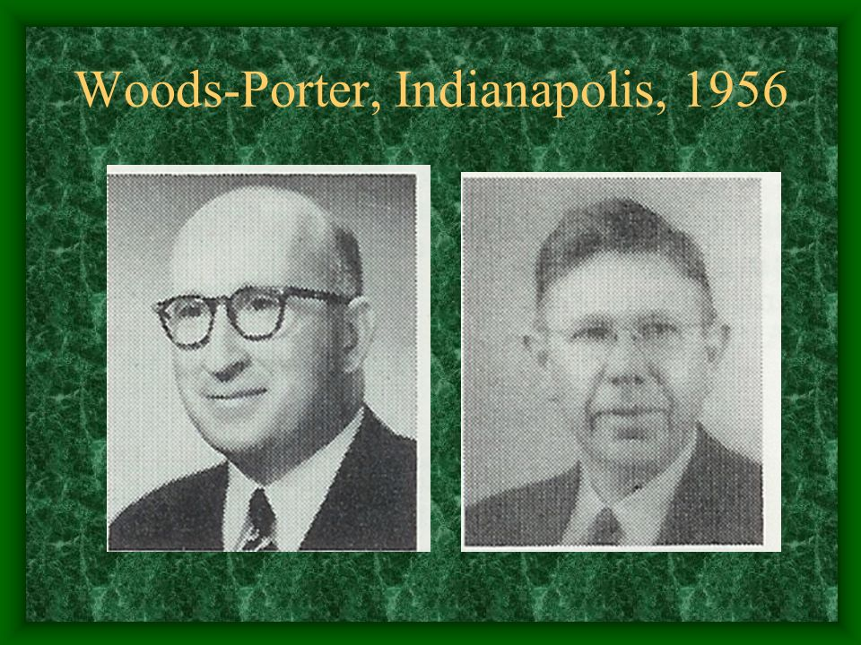Woods-Porter, Indianapolis, 1956