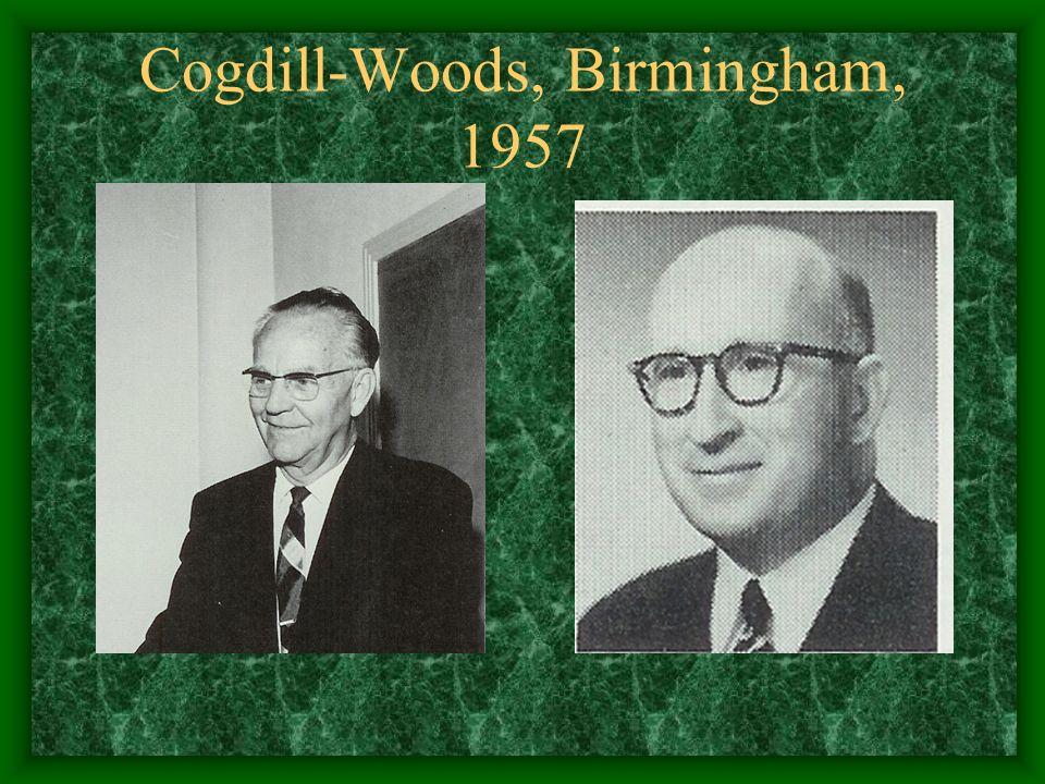Cogdill-Woods, Birmingham, 1957
