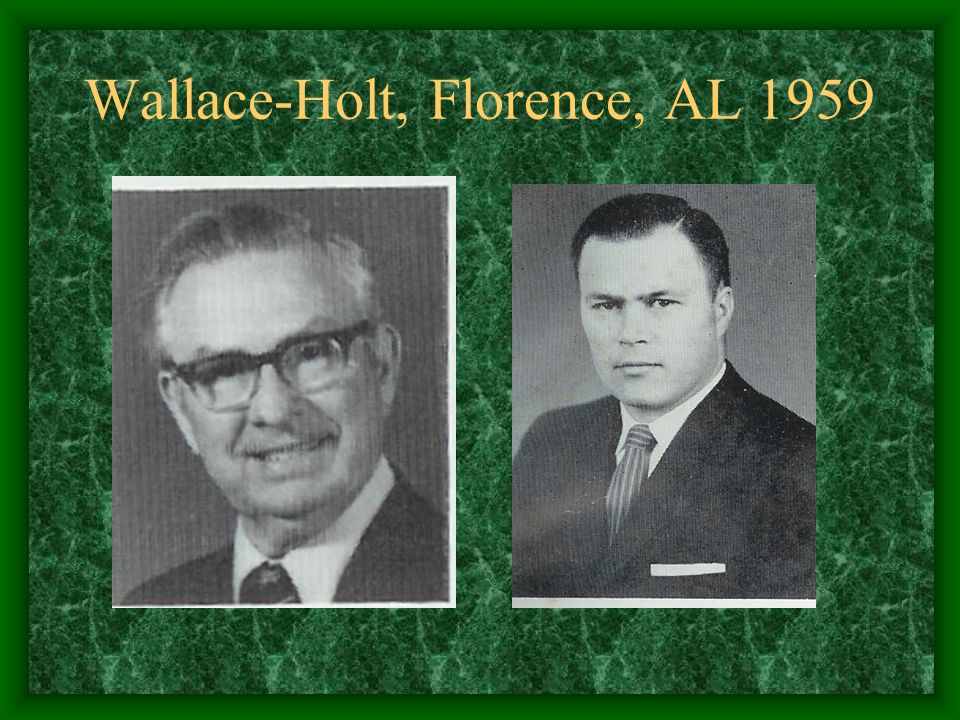 Wallace-Holt, Florence, AL 1959
