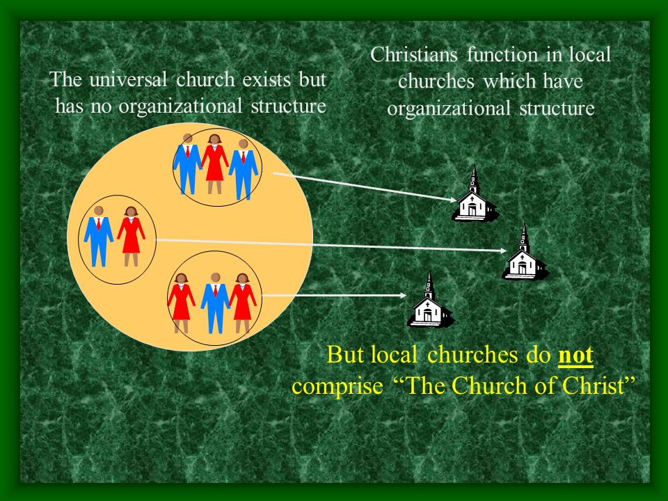 But local churches do not comprise The Church of Christ