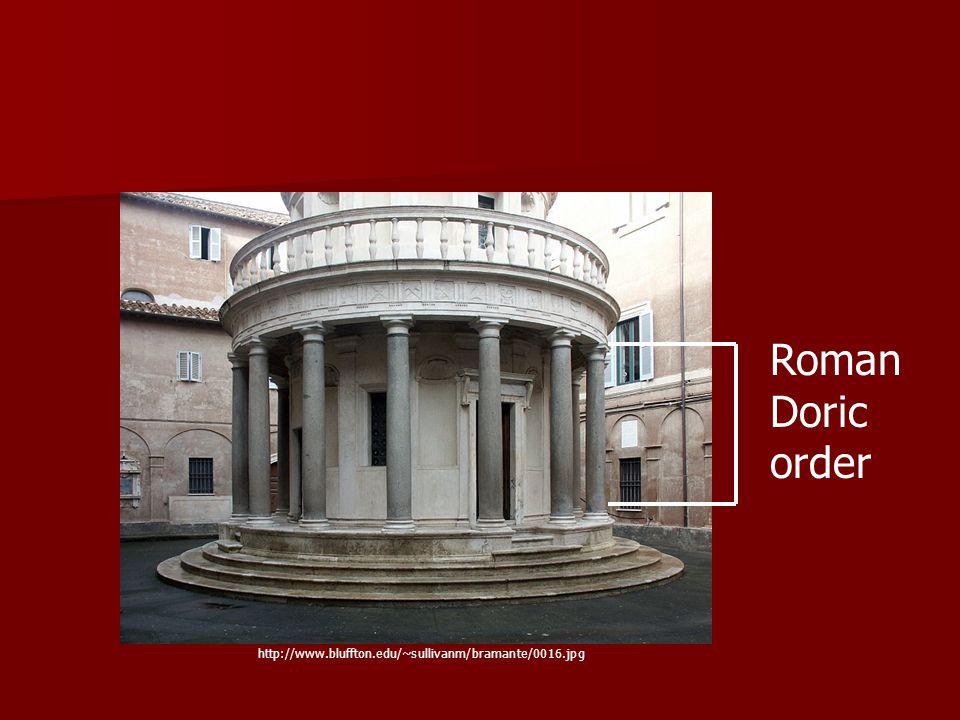 Roman Doric order http://www.bluffton.edu/~sullivanm/bramante/0016.jpg