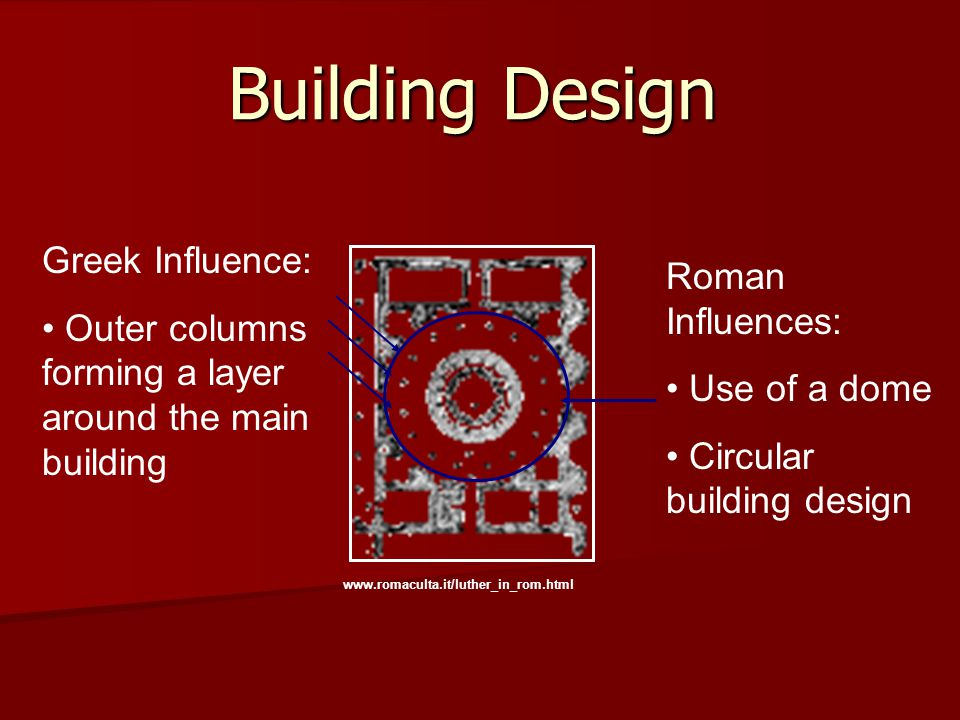 Building Design Greek Influence: Roman Influences: