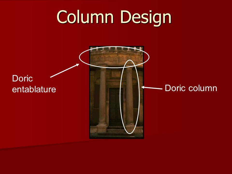 Column Design Doric entablature Doric column