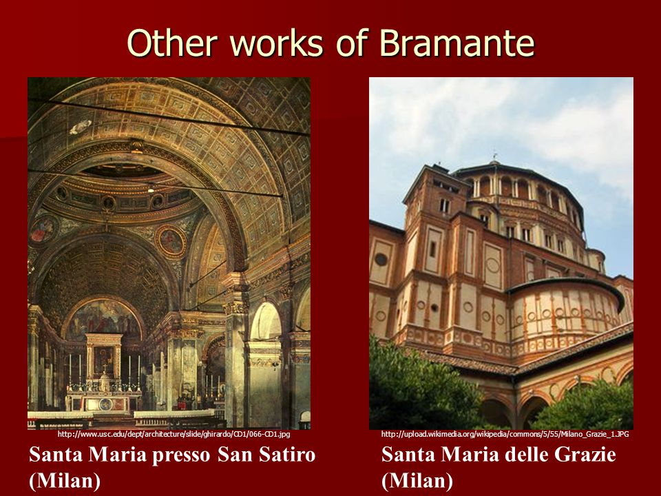 Other works of Bramante