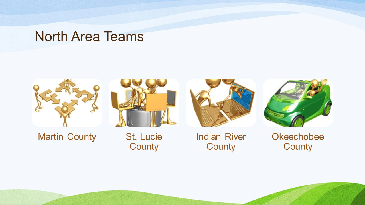 North Area Teams Martin County St. Lucie County Indian River County