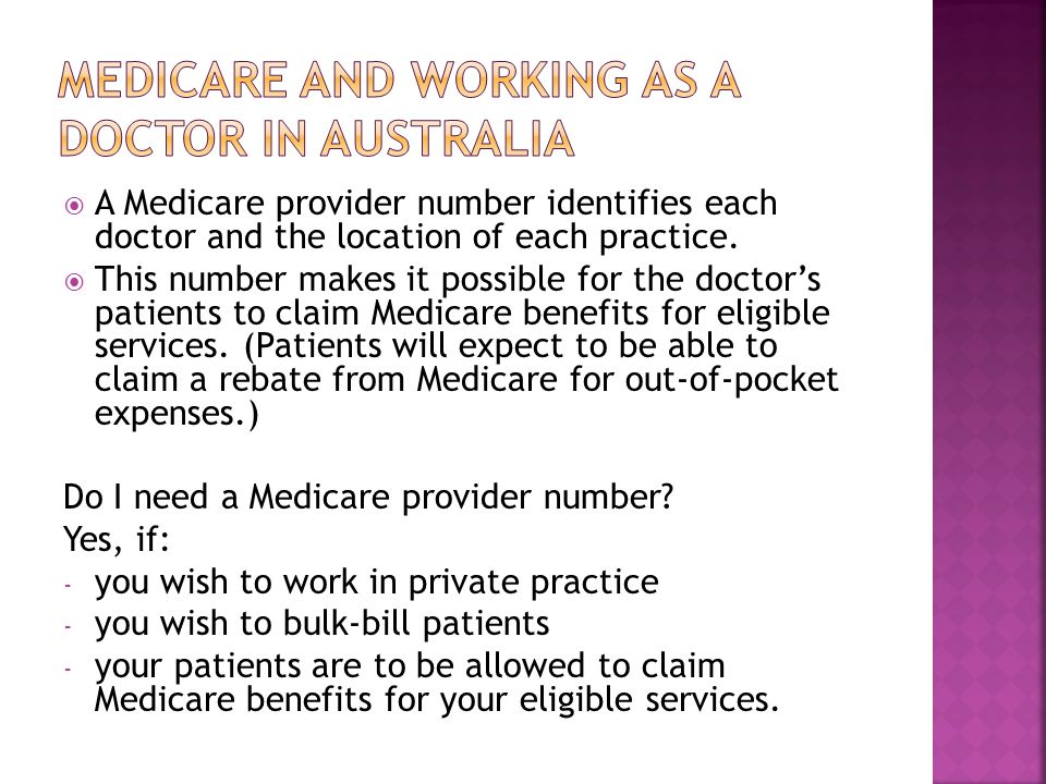 Medicare and working as a doctor in australia