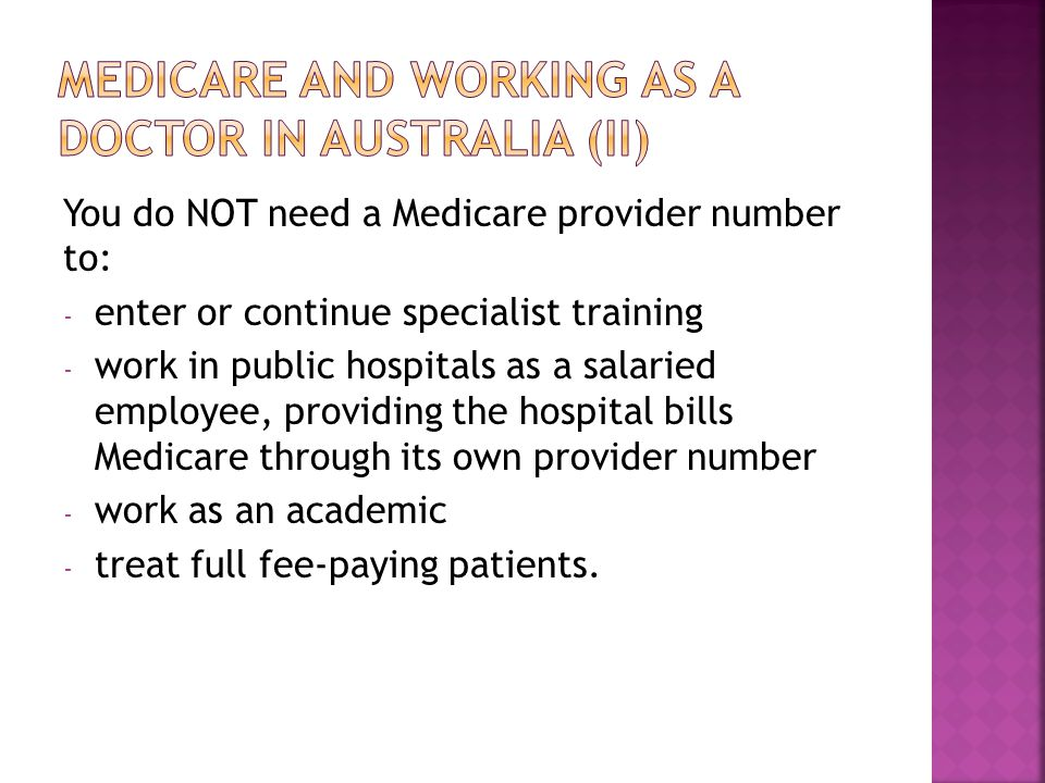 Medicare and working as a doctor in australia (ii)
