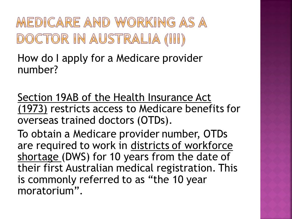 Medicare and working as a doctor in australia (iii)