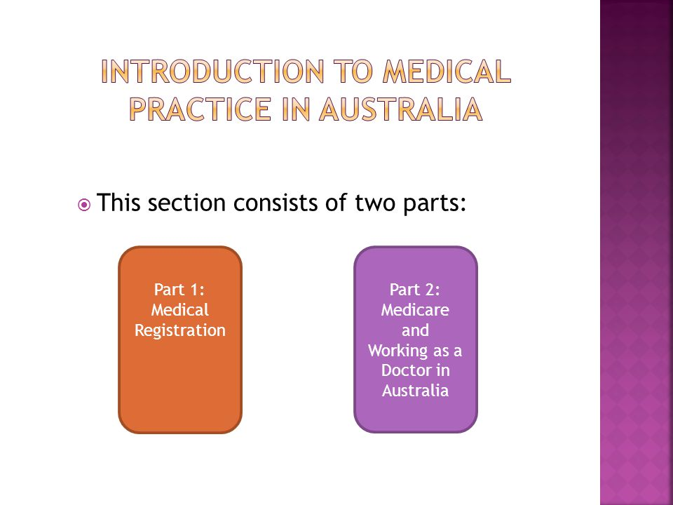 introduction to medical practice in australia