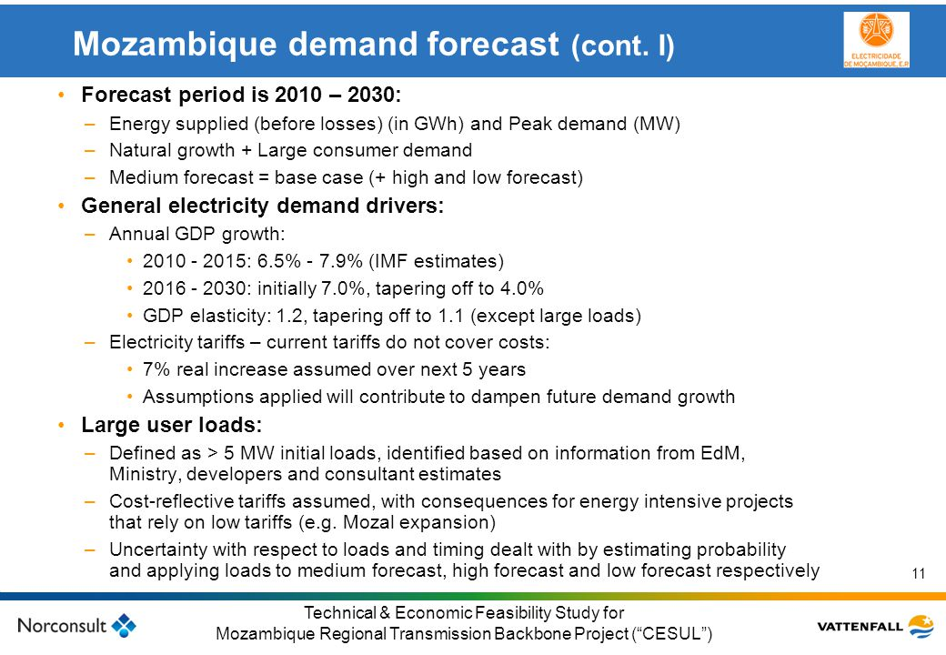 Mozambique demand forecast (cont. I)