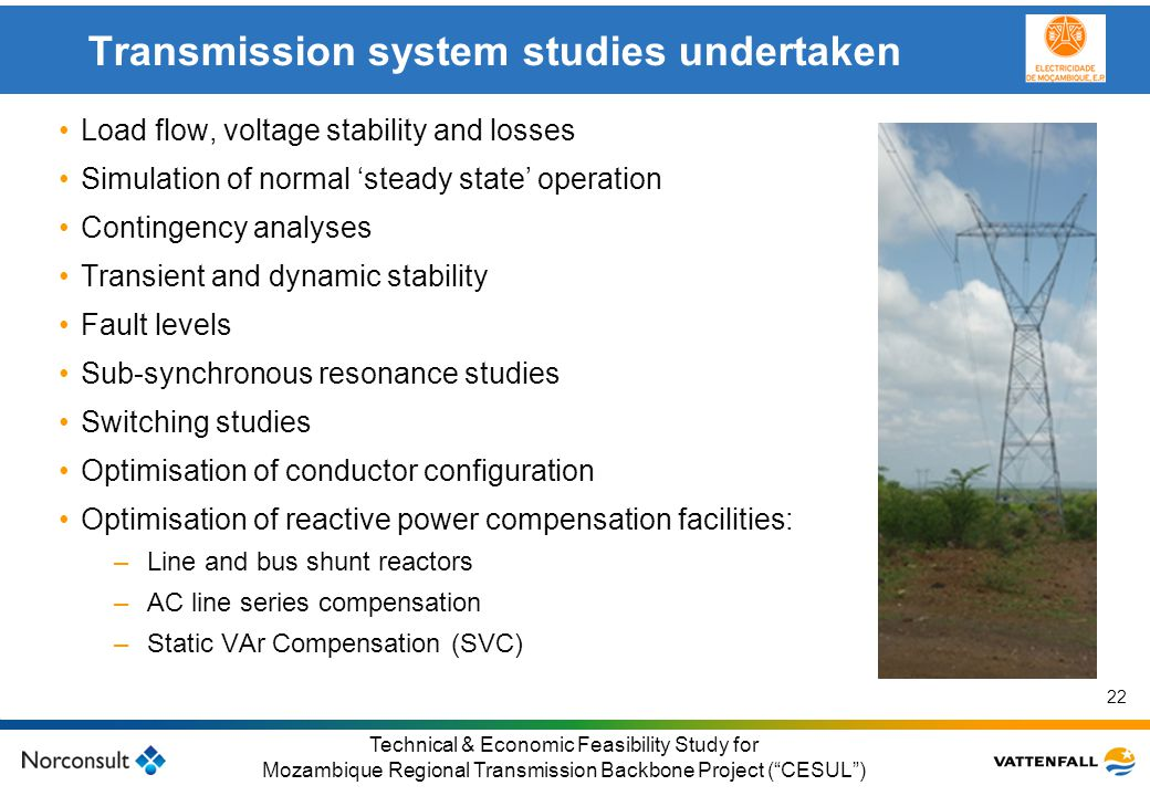 Transmission system studies undertaken