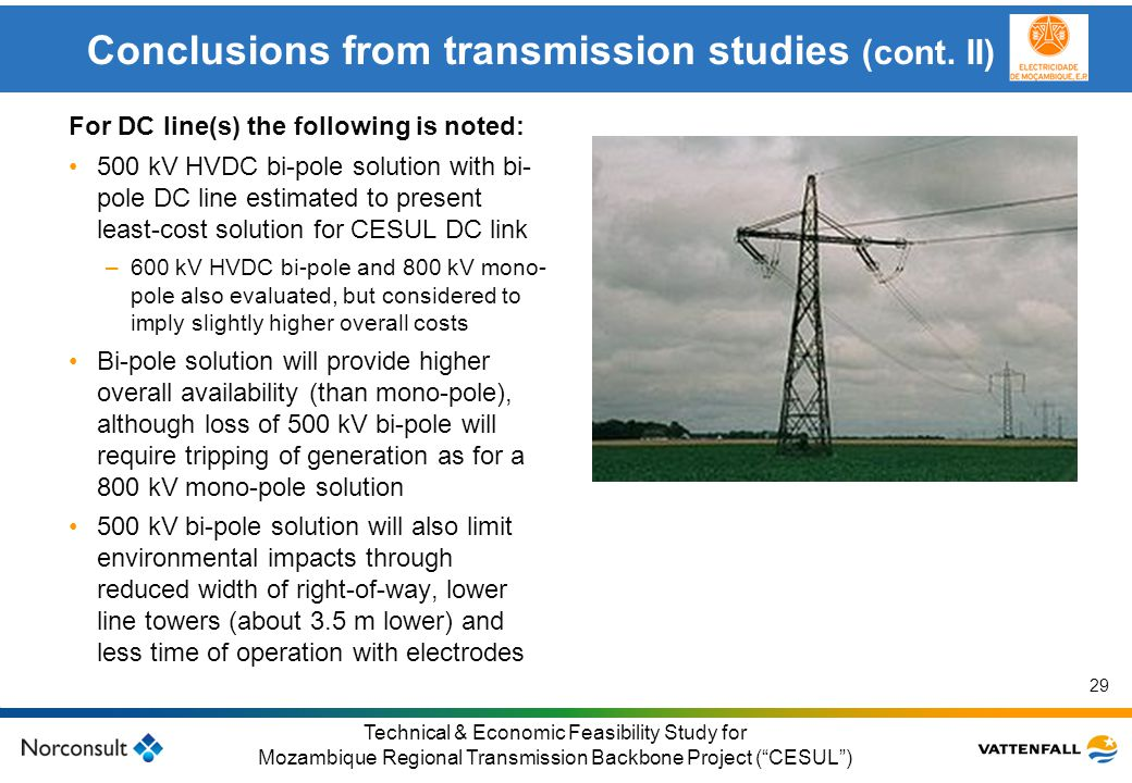 Conclusions from transmission studies (cont. II)