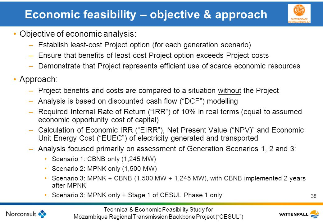 Economic feasibility – objective & approach