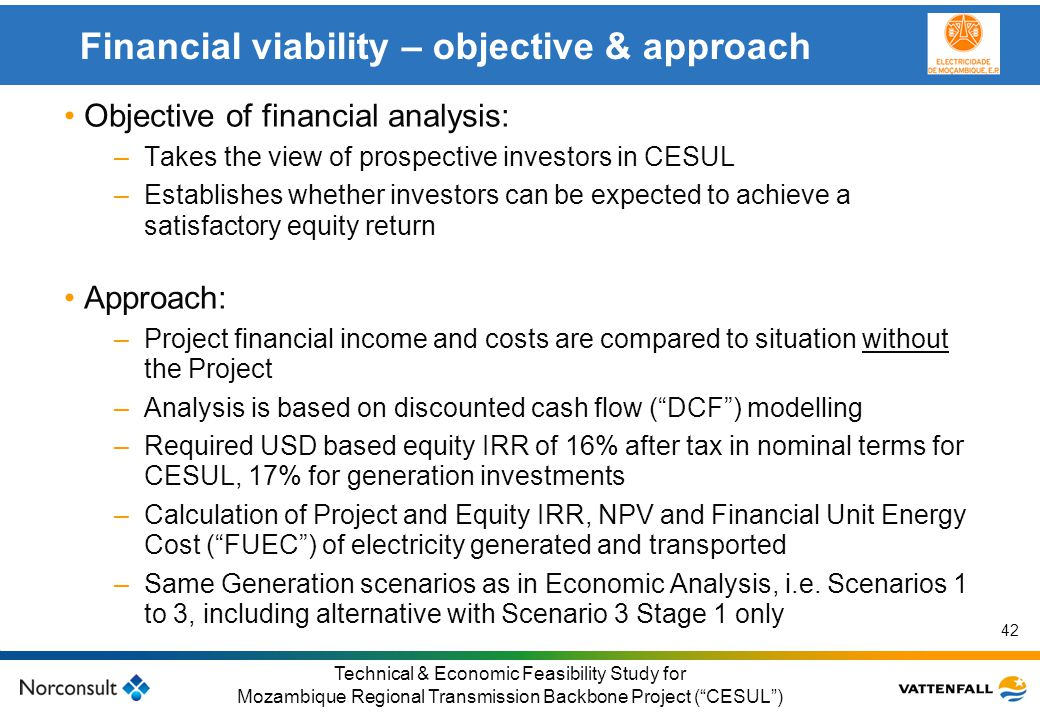 Financial viability – objective & approach
