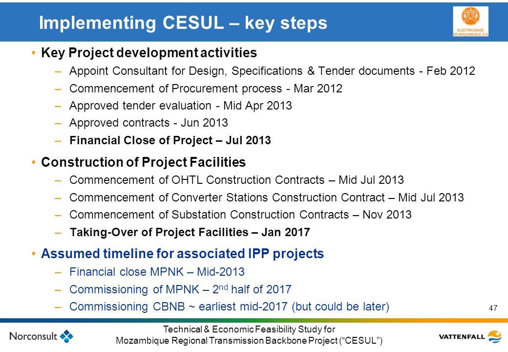 Implementing CESUL – key steps