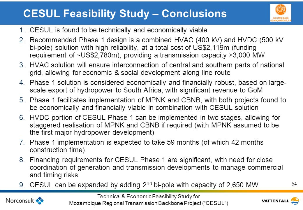CESUL Feasibility Study – Conclusions