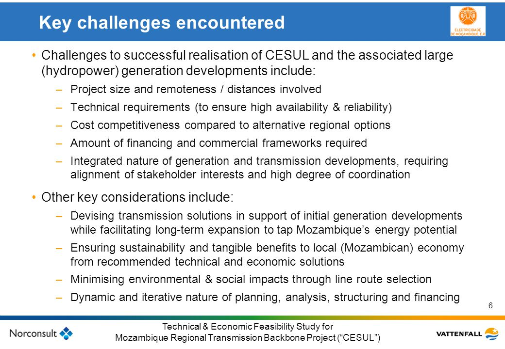 Key challenges encountered