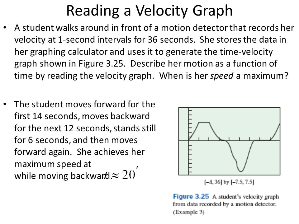 Reading a Velocity Graph