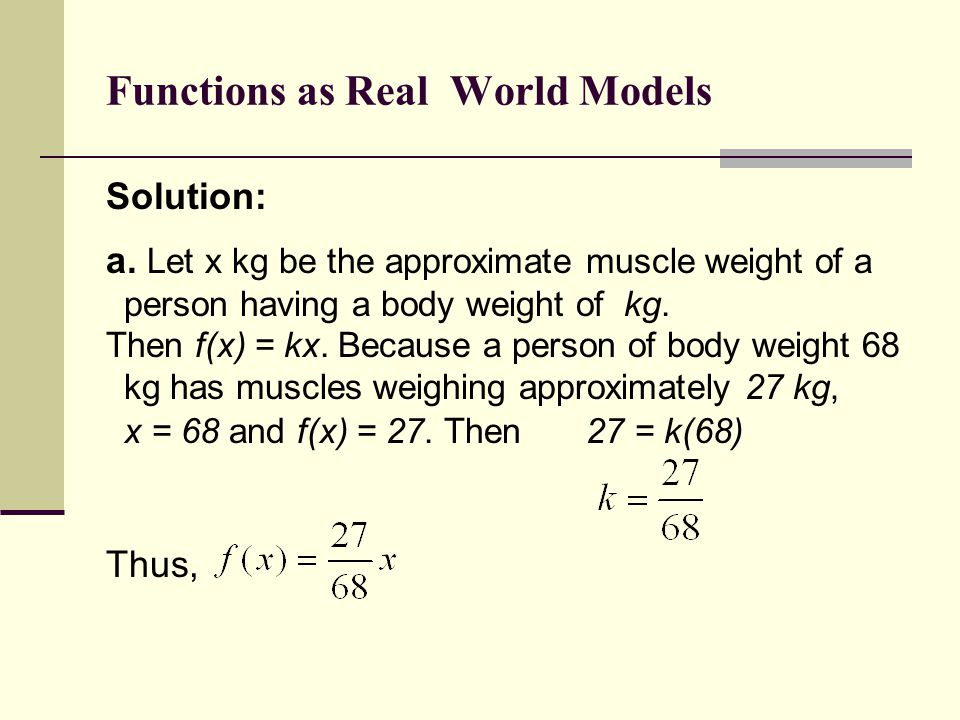 Functions as Real World Models