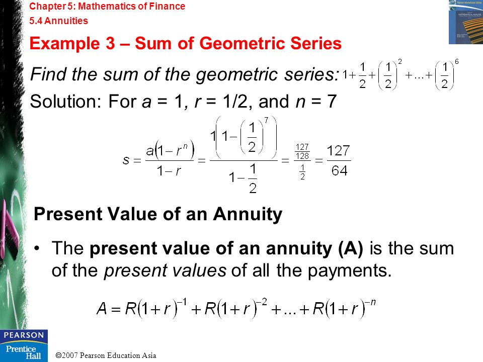 Find the sum of the geometric series: