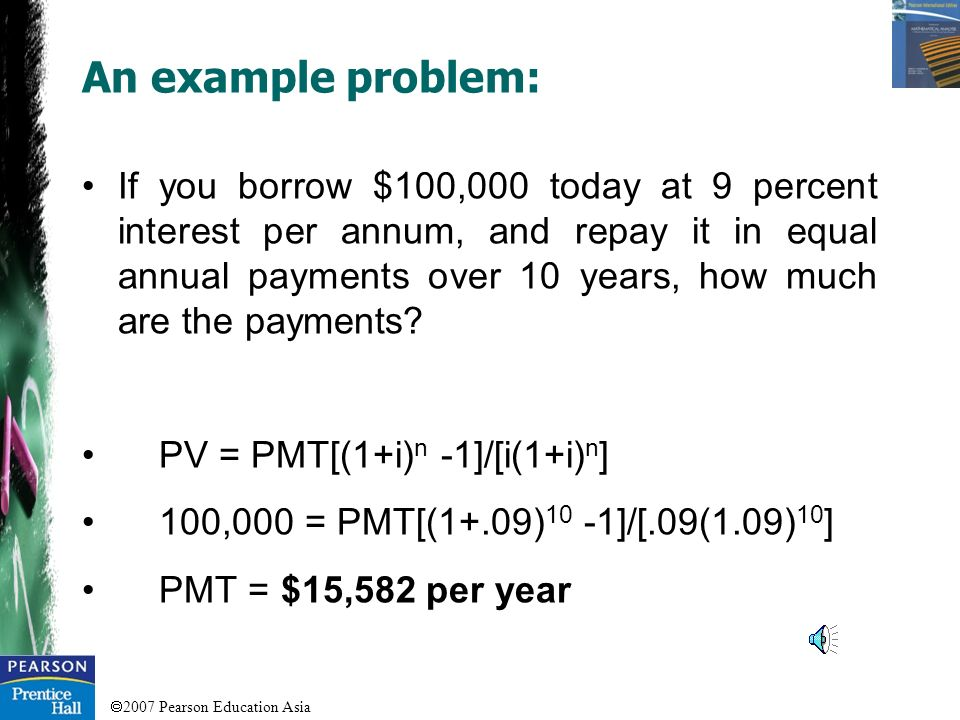An example problem: