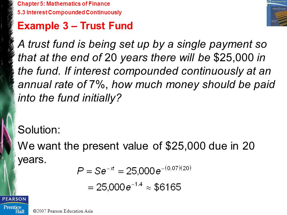 We want the present value of $25,000 due in 20 years.