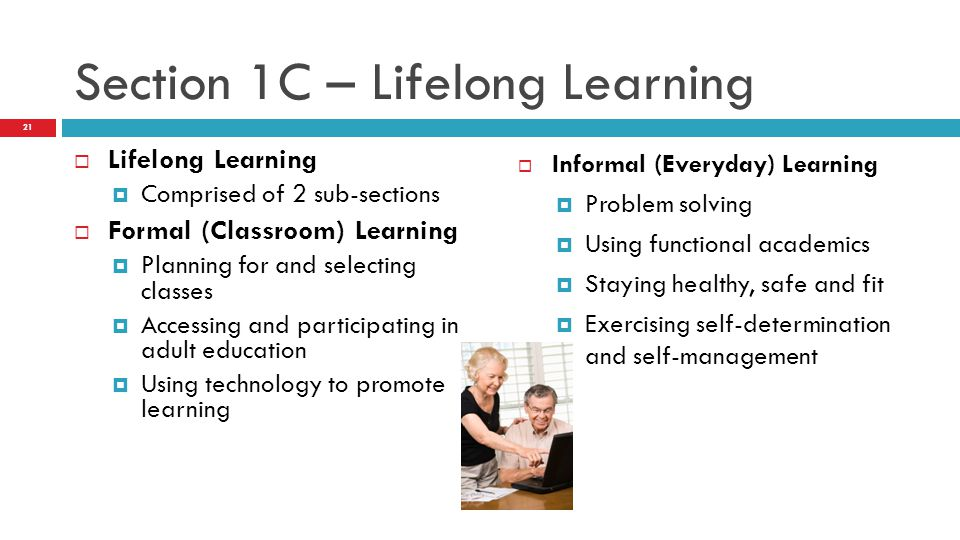 Section 1C – Lifelong Learning