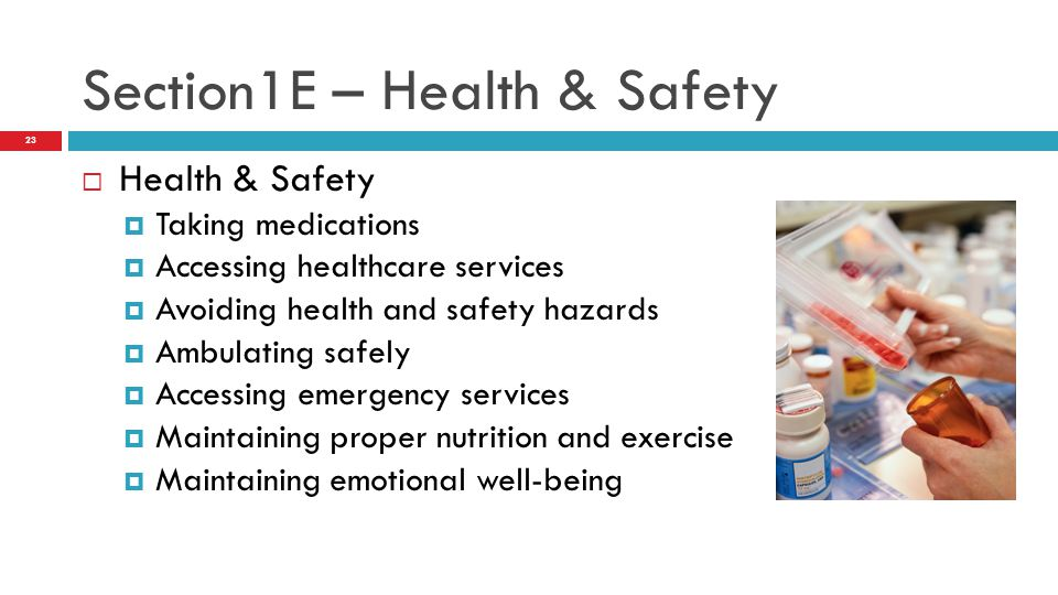 Section1E – Health & Safety