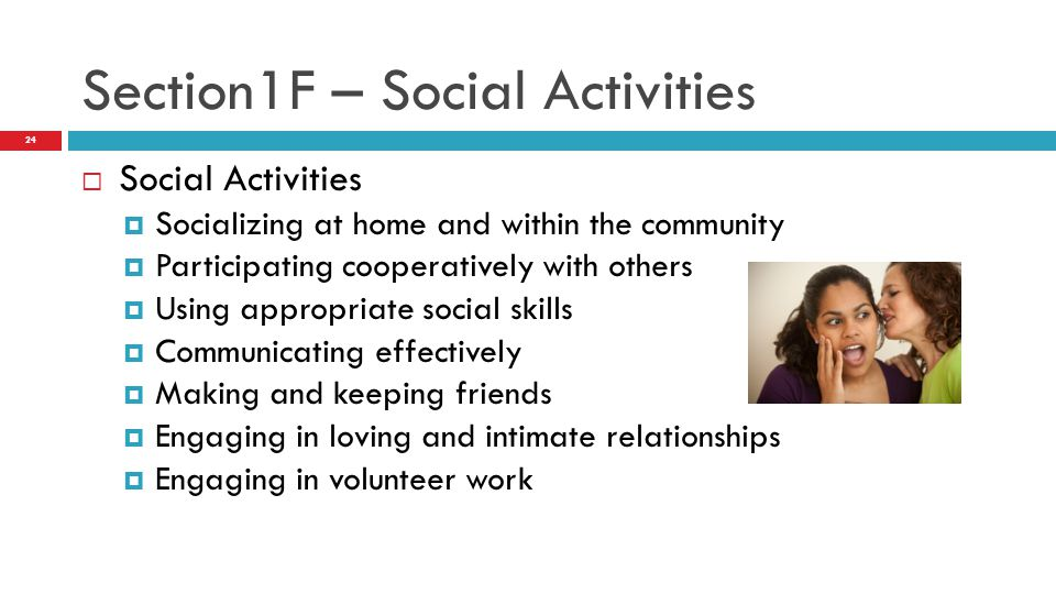Section1F – Social Activities