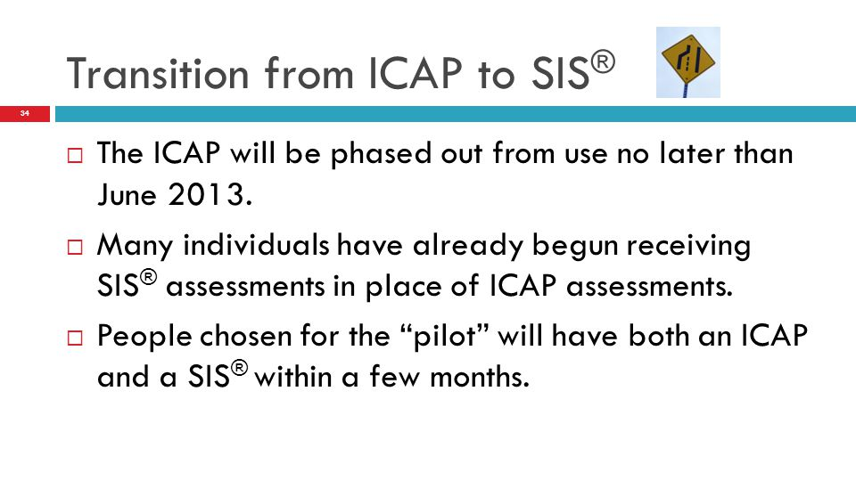 Transition from ICAP to SIS®