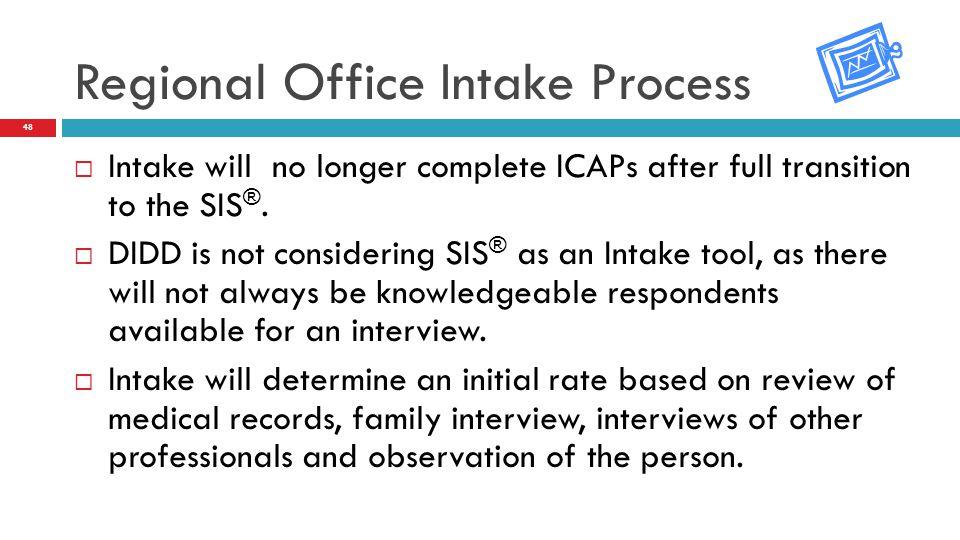 Regional Office Intake Process